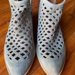 Jeffery Campbell Taggart Suede Booties SZ 8.5